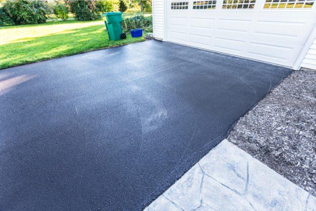 Completed Blacktop Sealed Asphalt Driveway
